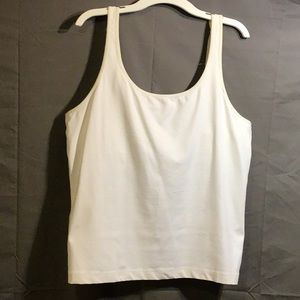 CHICO'S camisole with bra attached sz 3 white
